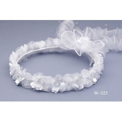 Beautiful Multilayer Flowers with Organza Bows First Communion Headpiece W-025