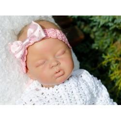 Christening/Special Occasions Pink Crochet Headband