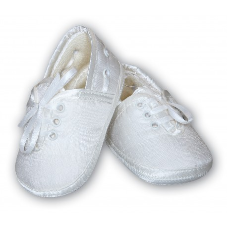 Baby Boy White Christening/Special Occasion Shoes from Sarah Louise 4402