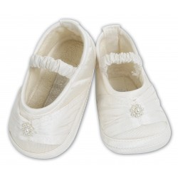 Chic Baby Girl White Christening/Special Occasion Shoes 4409