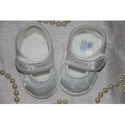 Baby Girl Satin Shoes with Ornaments M016