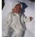 Baby Boys Crochet Ivory Christening Set Style Caillou