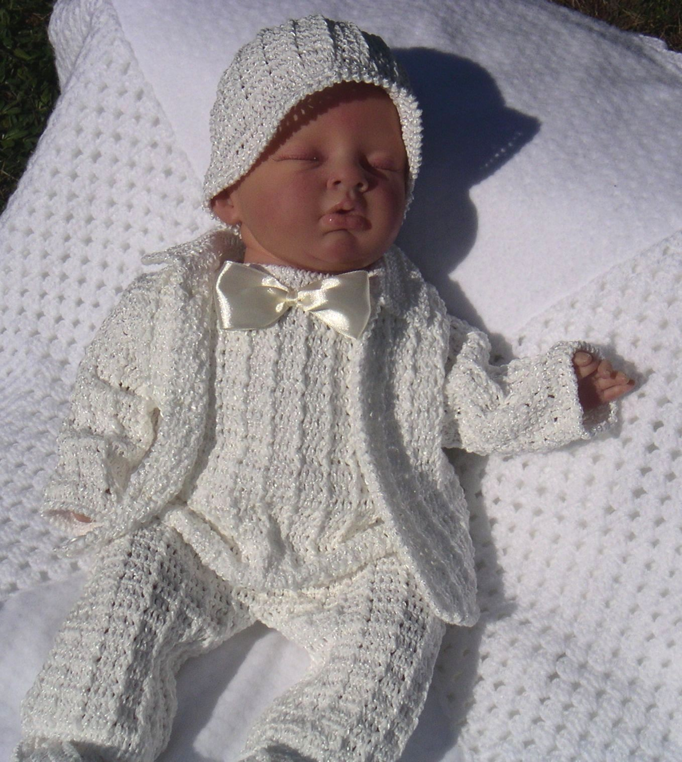a8a6f61acb1a Amazing Handmade Crochet Christening Outfits for your baby boy ...
