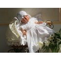 Handmade Beautiful Ecru Christening/Special Occasion Outfit for Girl style Ecru Flower