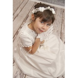 Handmade Communion Crochet Dress Style Satin Sophie