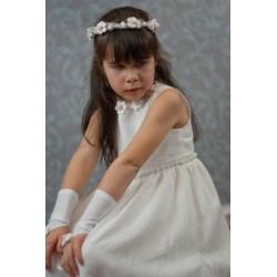 Handmade Communion Linen Dress Style Liliana