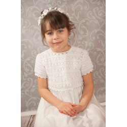Handmade Communion Crochet Dress Style Linen Sophie