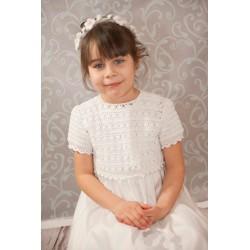 Handmade Communion Crochet  Dress Style Style Linen Sophie