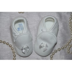 Velour Christening Shoes M072/W-B