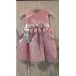 Cute Polka Dot Pink Baby Girls Dress by Eva Rose style 5084