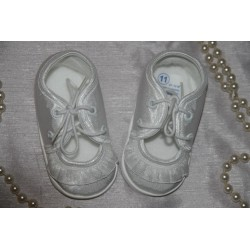 Satin Christening Shoes M017