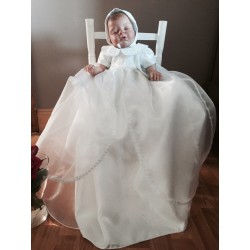 Couche Tot Baby Girl White Christening Gown Style 476