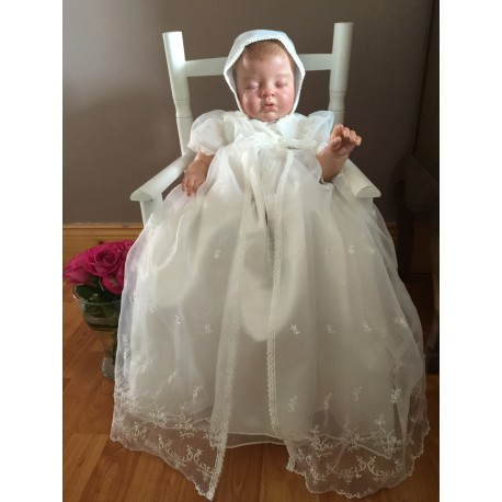 Baby Girls Ivory Christening Gown Style 329