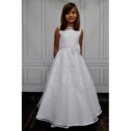 Handmade Lace Decorated Communion Dress style Mela