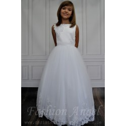 Simple Elegant Communion Dress style Rose