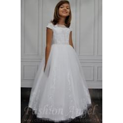 Beautiful  Lace Decorated Communion Dress style Jasmine