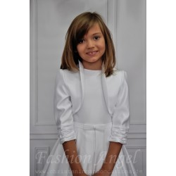 White Satin Communion/Special Occasion Bolero CB05