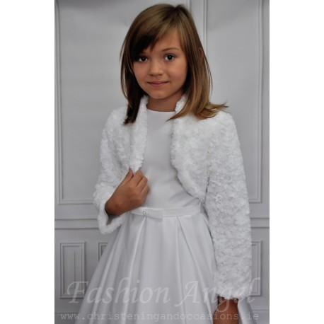 Simple Elegant Faux Fur Communion/Special Occasion CB06