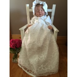 Eva Rose White Christening/Baptism Gown Style 10060