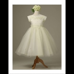 Seeva Flower Girl Ivory Dress Style KC1102