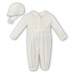 Sarah Louise Baby Christening Robe/Gown & Hat style 010446