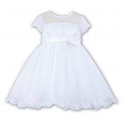 Lovely Ceremonial / Christening/First Birthday /Special Occasion White Dress from Sarah Louise 070007