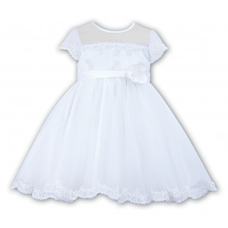 Lovely Ceremonial / Christening/First Birthday /Special Occasion White Dress from Sarah Louise 007