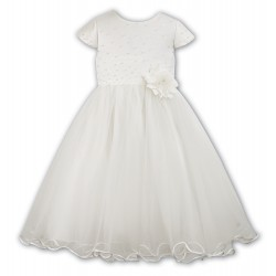 Ceremonial/Flower Girl Light Ivory Dress from Sarah Louise 070036-2
