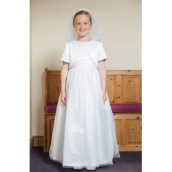 Subtle Satin Communion Dress style Ok309