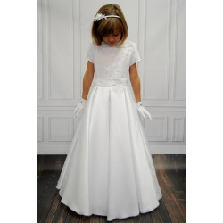 Lovely Lace and Satin Communion Dress style Bianca