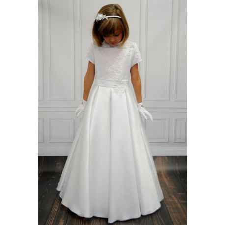 Lovely Lace and Satin Communion Dress style Blanka