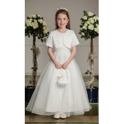 Satin Communion Dress with Bolero Style OK294