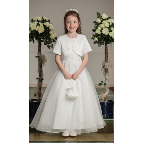 Satin Communion Dress with Bolero Style OK294