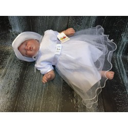 Elegant White Christening/Special Occasion Dress Angelina