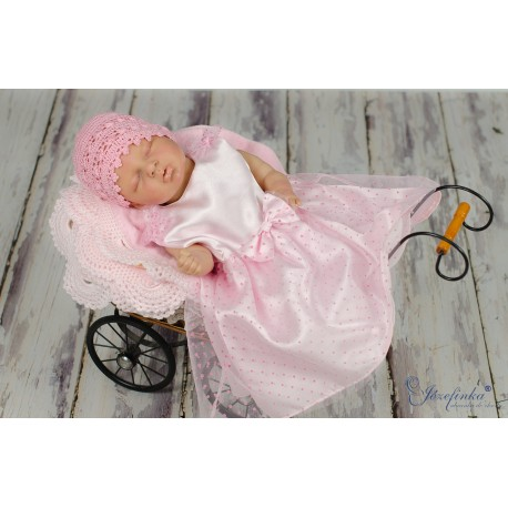 Cute Polka Dots Pink Christening/Birthday/Party/Special Occasions Dress Style MIMI PINK