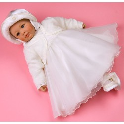 Ivory Long Sleeves Christening/Special Occasion Dress Edyth