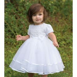 Ceremonial /Christening /Special Occasion Ballerina Lenght Dress in White from Sarah Louise 070015