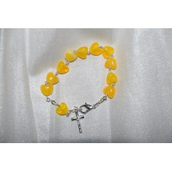 Baptism Baby Bracelet 10th Rosary Yellow