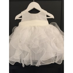 Sevva Elli Ivory Girls Waterfall Baptism Dress