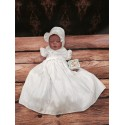 Ivory Christening Dress with Bonnet Style 607030