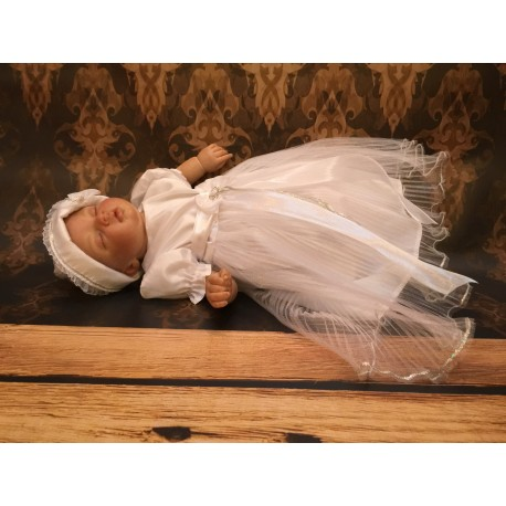 White and Silver Christening/Special Occasion Dress style CH-29