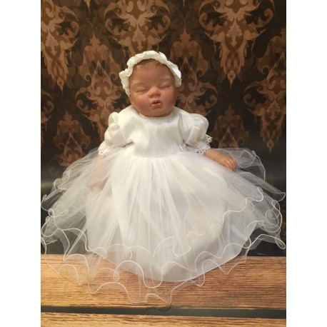 Lovely White Christening /Special Occasion Dress with Sparkling Top style Sparkle