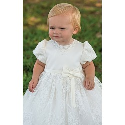 Sarah Louise Ivory Christening/Special Occasion Lace Dress style 070020