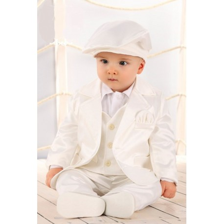 Baby Boys Ivory Christening/Special Occasions Suit Style LA004