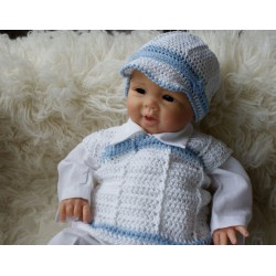Lovely Handmade Baby Boy Christening/Special Occasion Outfit Style Junior Blue