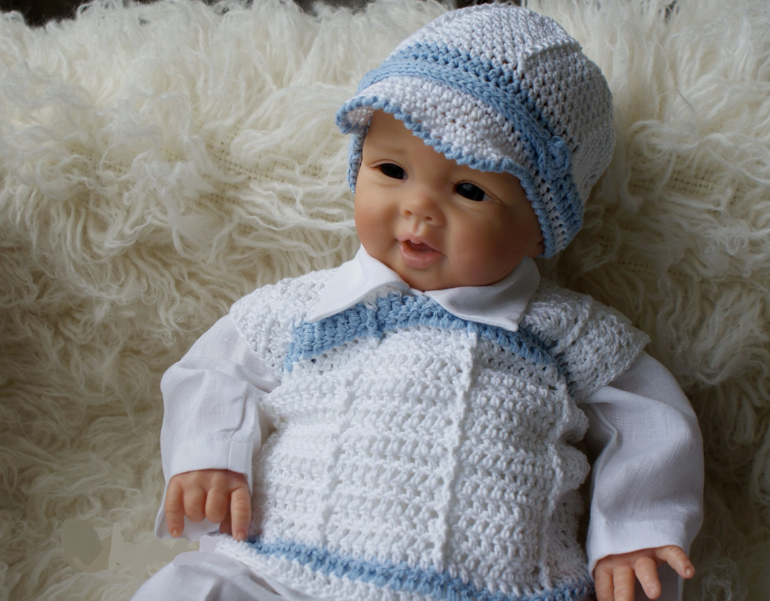ff89248f8 Lovely Handmade Baby Boy Christening/Special Occasion Outfit Style Junior  Blue