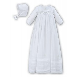 Sarah Louise Baby Christening White Robe/Gown & Bonnet style 001166L