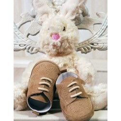 Baby Boys Dark Beige Suede Leather Christening/Wedding/Pram/ Formal Party Shoes Style 4143/178