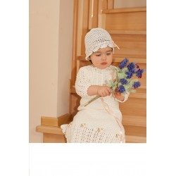 Beautiful Handmade Long Slevees Crochet Christening/Special Occasion Baby Girl Outfit style Summer Dream 2