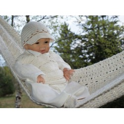 Unusual Handmade Christening Ivory Outfit Style JOSEPH